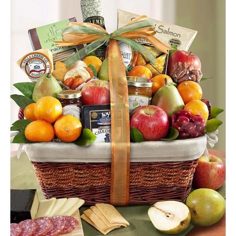 Sensation Fruit and Gourmet Gift Basket
