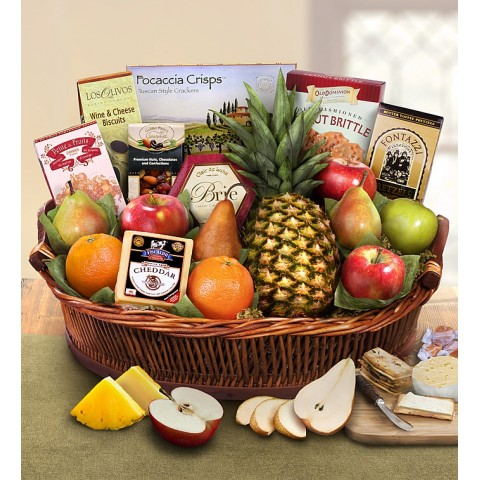 Ripe River Fruit and Cheese Gift Basket