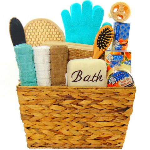 Vanilla Scent Spa Basket