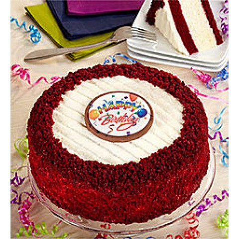 Happy Birthday Red Velvet Cake