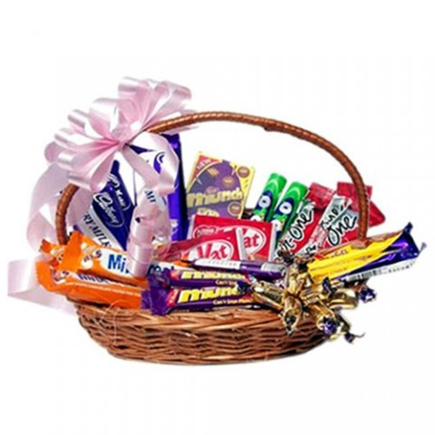 Basket of Assorted Chocolates
