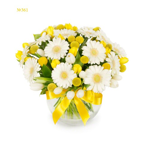 Calming White Gerberas