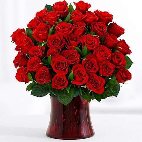 Red Fiesta Rose Bouquet