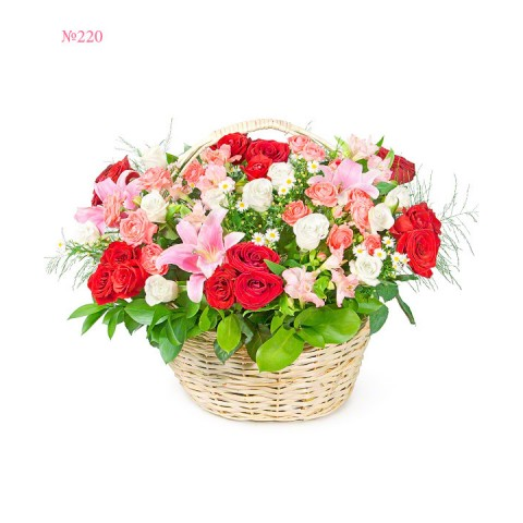 Shining Basket of Flowers