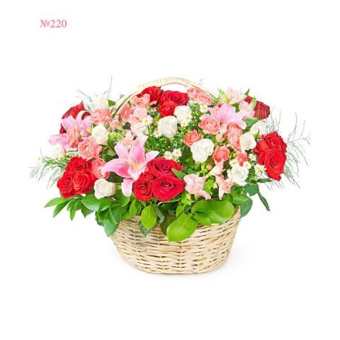 Shining Basket of Flowers
