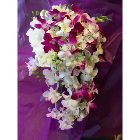 Silk purple orchid