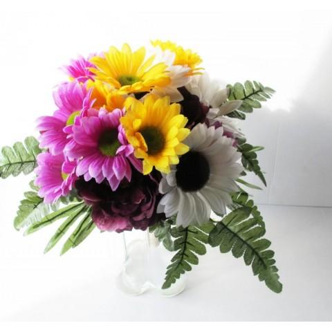 Colorful Silk Flower