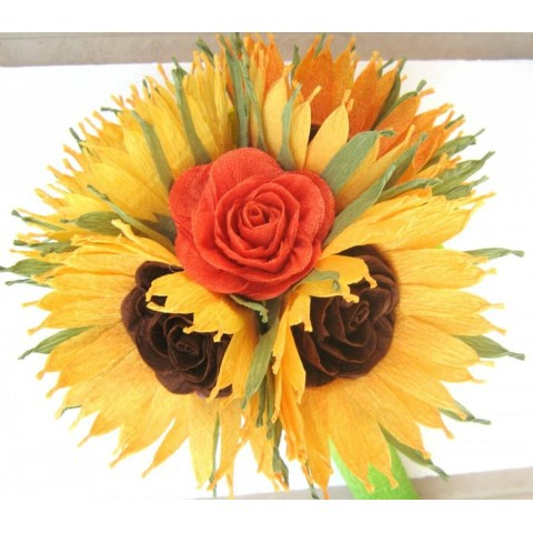 Wedding Sunflower bouqet