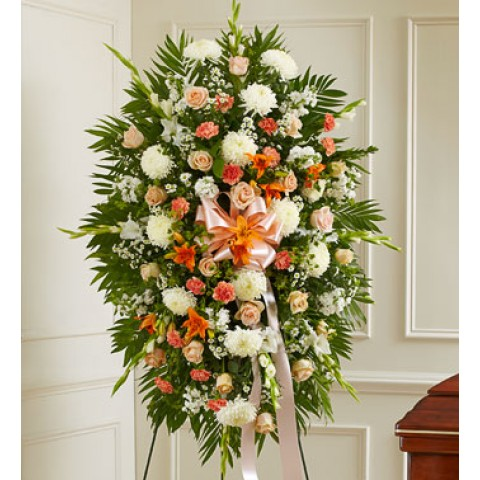 Peach White & Orange Sympathy