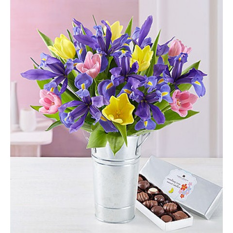 Fanciful Spring Tulips Bouquet